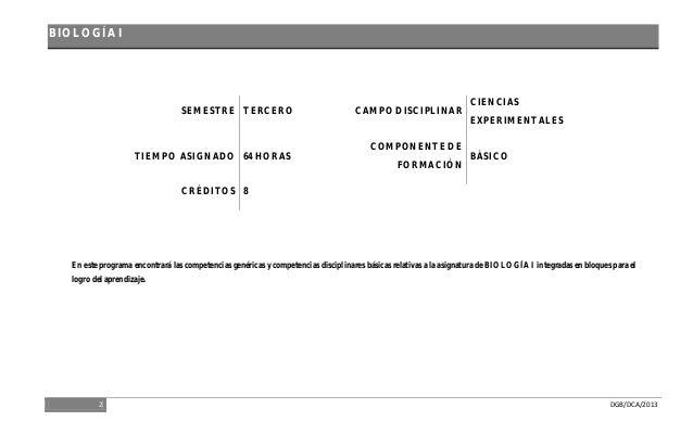 Biologia I semestre 2014 Slide 2