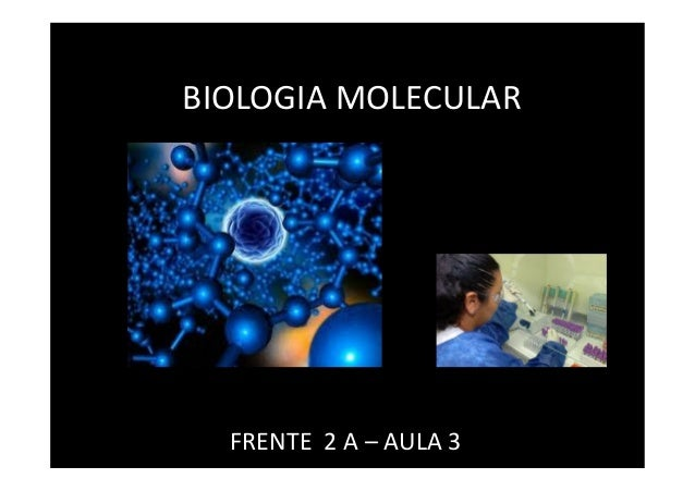 BIOLOGIA MOLECULAR FRENTE 2 A – AULA 3