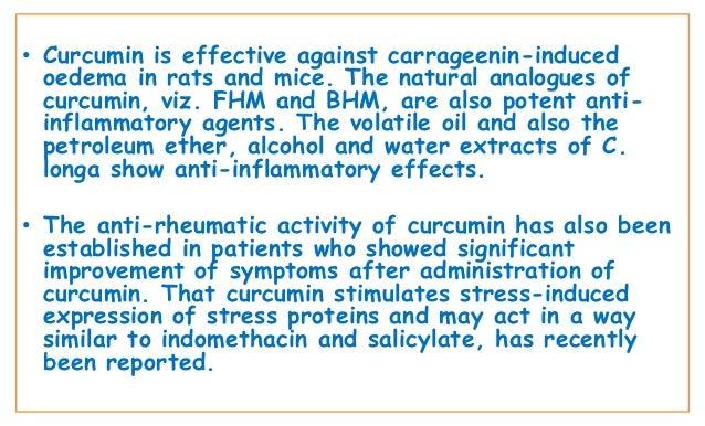 Biological activity of tumeric 4