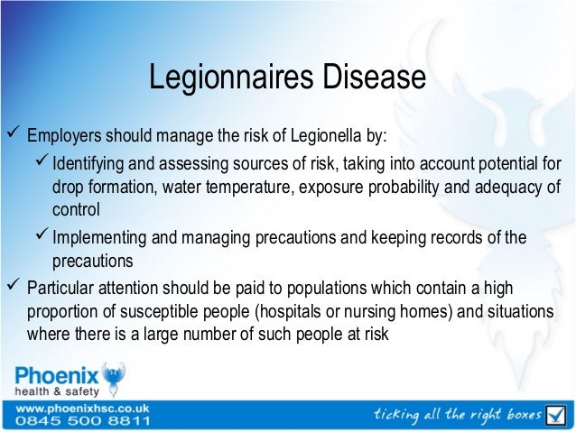 Biological agents - Legionnaires disease swimming pool ...