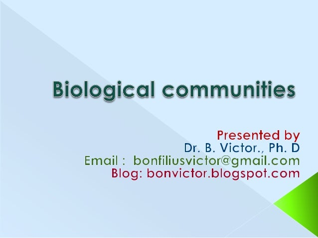 Definition Community characteristics – diversity, stratification, dominance, structure, periodicity, fluctuations, stabili...
