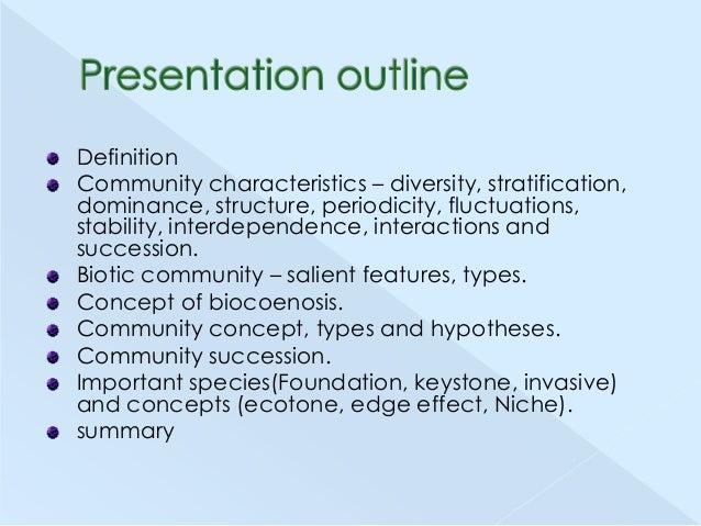 Biological communities Slide 2