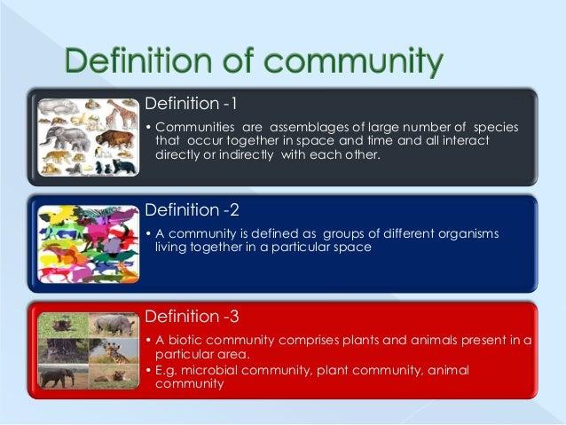 Biological communities Slide 3