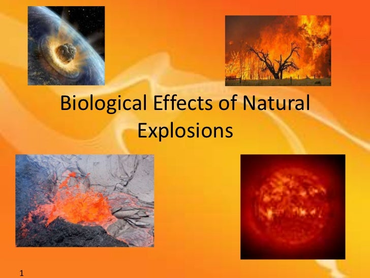 Biological Effects of Natural Explosions<br />1<br />