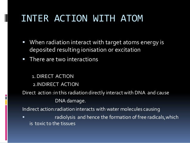 biological effects of radiation Read about short- and long-term damage as well as the relationship to the  amount and type of radiation received.