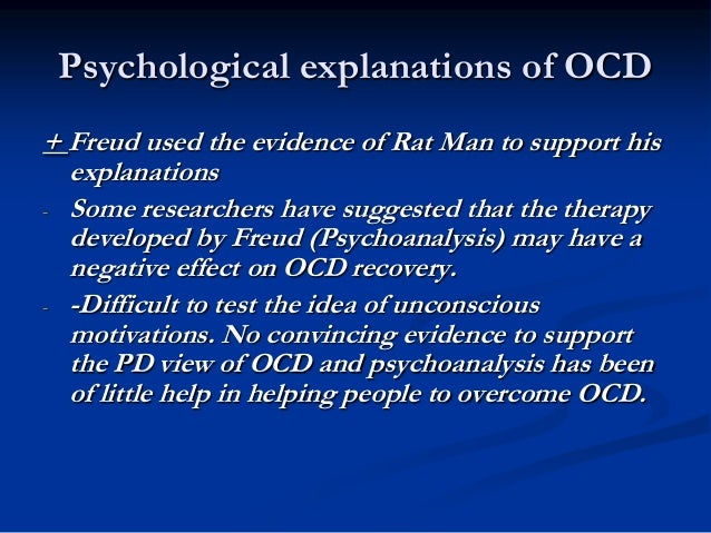 behavior explanation of ocd Learn about obsessive-compulsive disorder (ocd), including symptoms and what you can do to help yourself or a loved one.