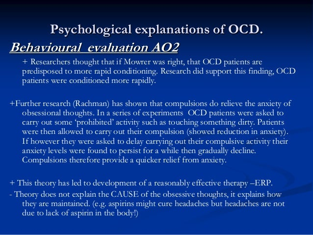 an evaluation on ocd Contemporary models of pediatric obsessive–compulsive disorder: an evaluation with a large clinical sample.