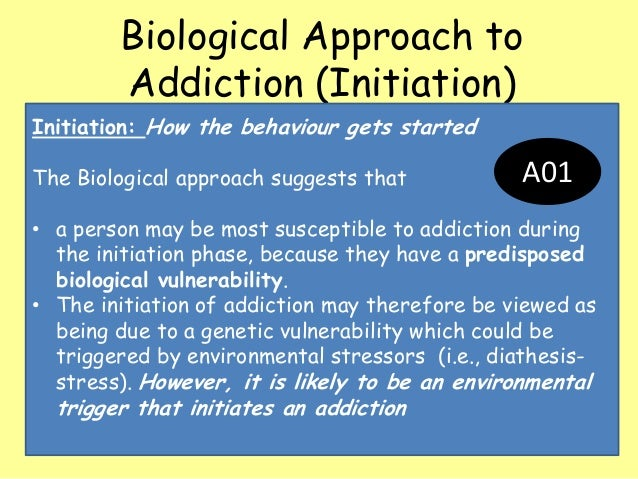 sociocultural and psychological models of addiction Biological model for understanding addictions addiction is much more complicated than a simple « psychological model for understanding.