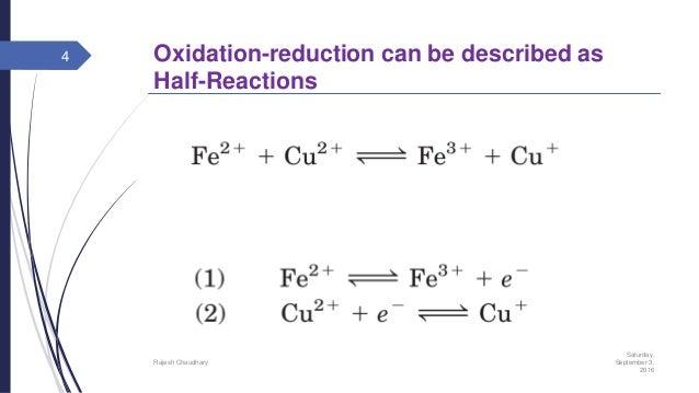 biological oxidation reduction