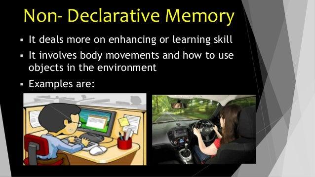 nondeclarative memory psychology examples