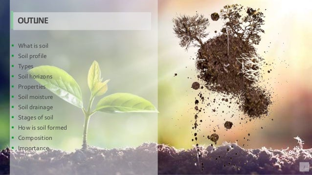 3  What is soil  Soil profile  Types  Soil horizons  Properties  Soil moisture  Soil drainage  Stages of soil  Ho...