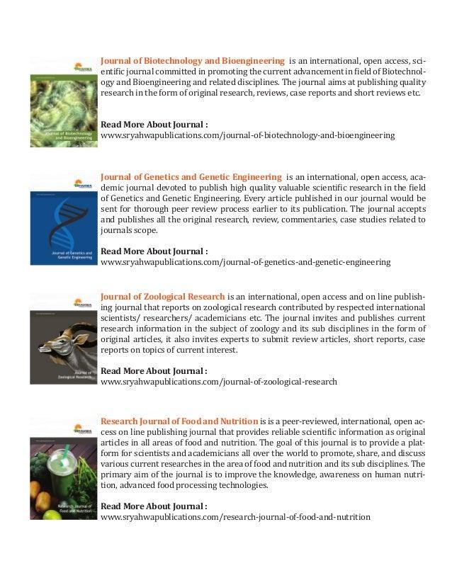 Biological science journals sryahwa publications