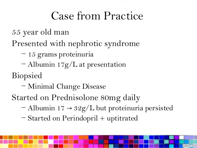 nephrotic syndrome essay Nephrotic syndrome definition nephrotic syndrome is defined as proteinuria (3  g/24 hour), hypoalbuminaemia and oedema see also.