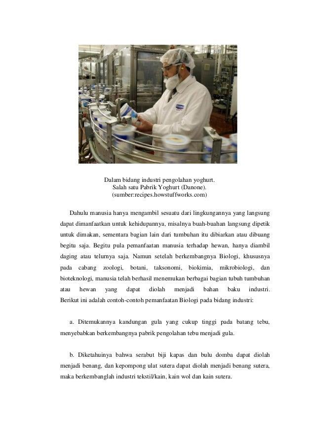 Peranan Biologi di bidang industri