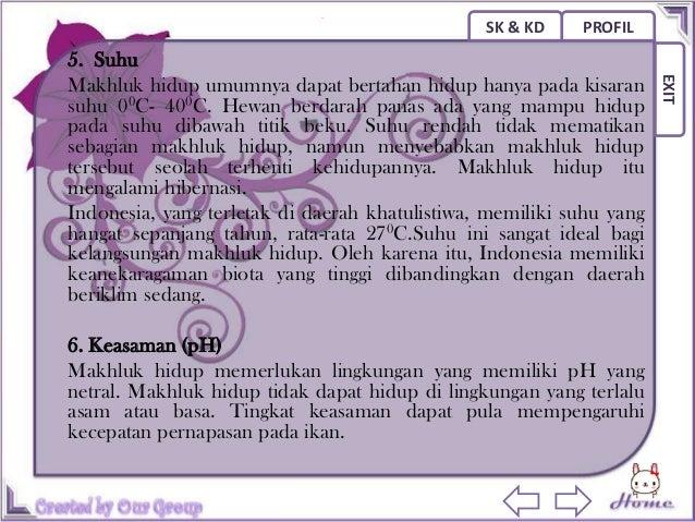 SK & KD   PROFIL                                                     EXIT9. Faktor Pembatas dan Toleransi Makhluk  Hidup. ...