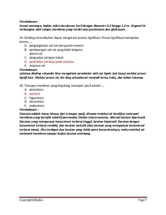 soal essay biologi tentang sel Kumpulan soal biologi tentang sel dan pembahasan untuk kelas 11.