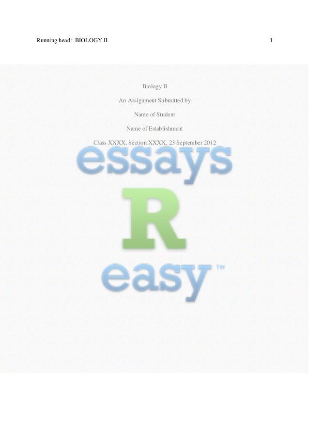 Biol 1209 writing assignment 1