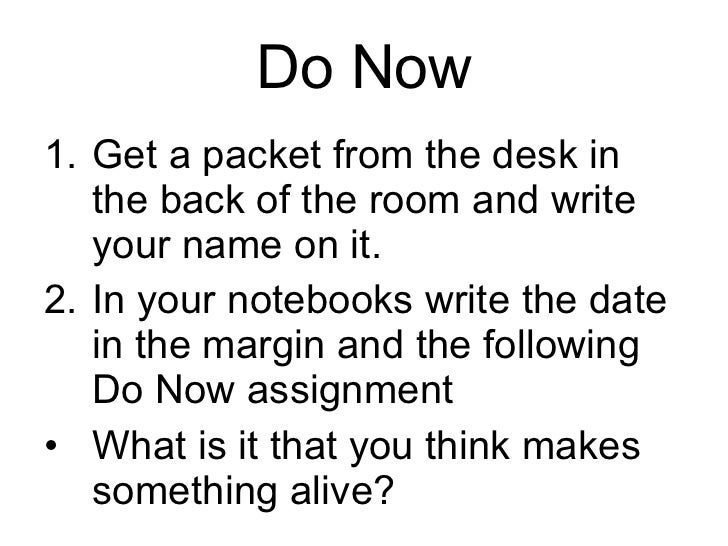 Do Now <ul><li>Get a packet from the desk in the back of the room and write your name on it. </li></ul><ul><li>In your not...