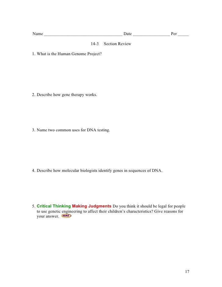 Biology - Chp14 - Human Heredity - Notes