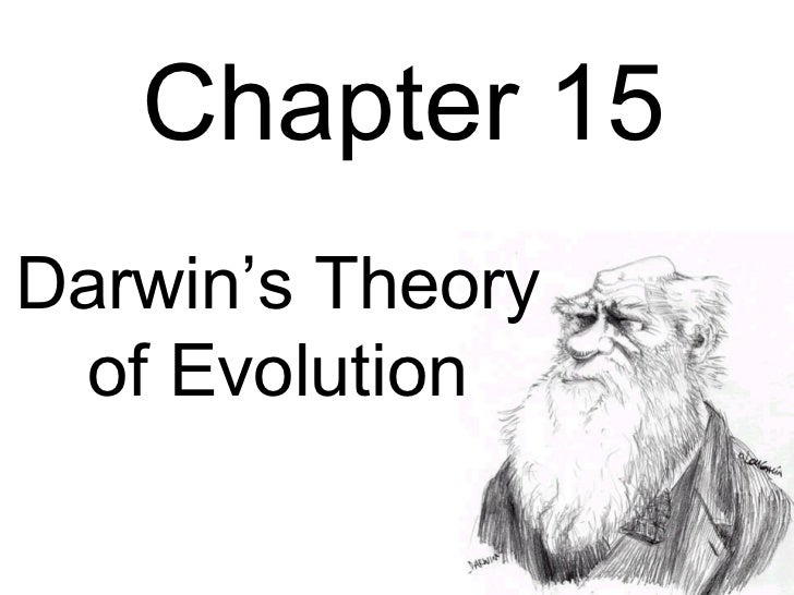 Chapter 15Darwin's Theory  of Evolution