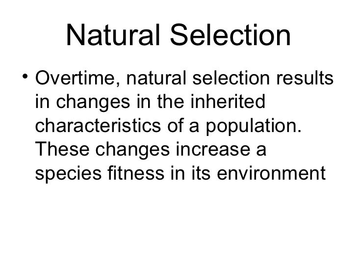 Overtime What Is The Result Of Natural Selection
