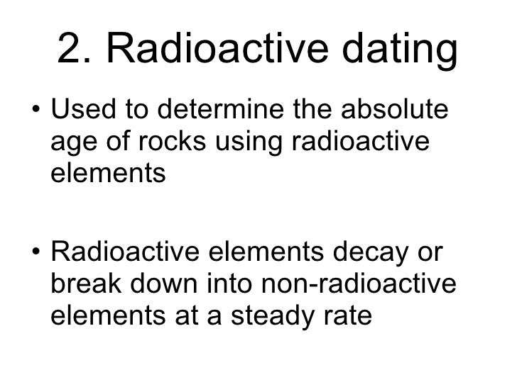 commonly used radioactive dating elements