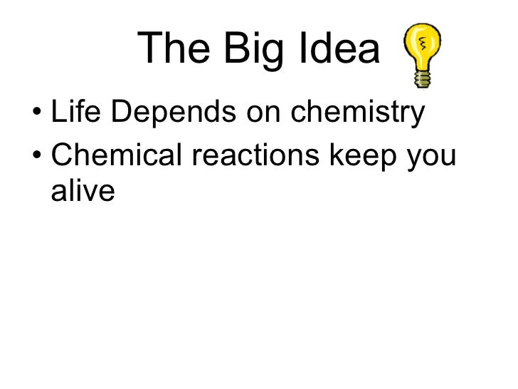 bio the chemistry of life Walk yourself through the slides of my lecture on the chemistry of life, where i deal with a basic introduction to chemistry i start off by talking about elements, and give examples of what elements are.