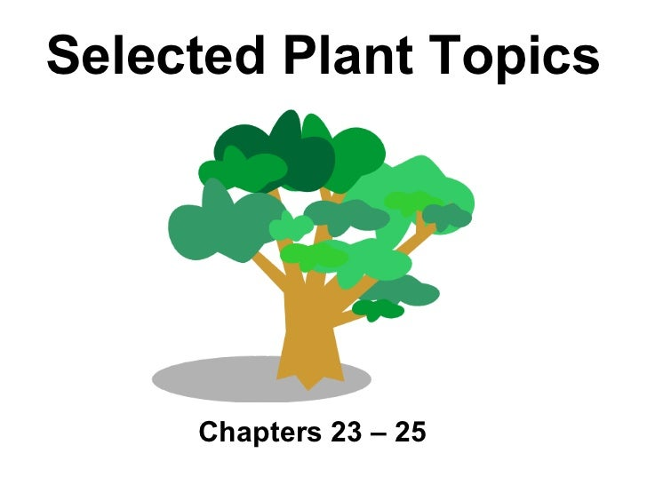 Selected Plant Topics     Chapters 23 – 25