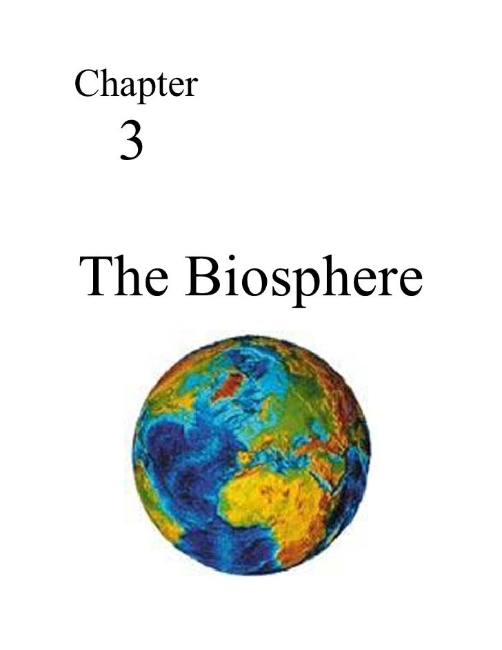 Chapter  3The Biosphere