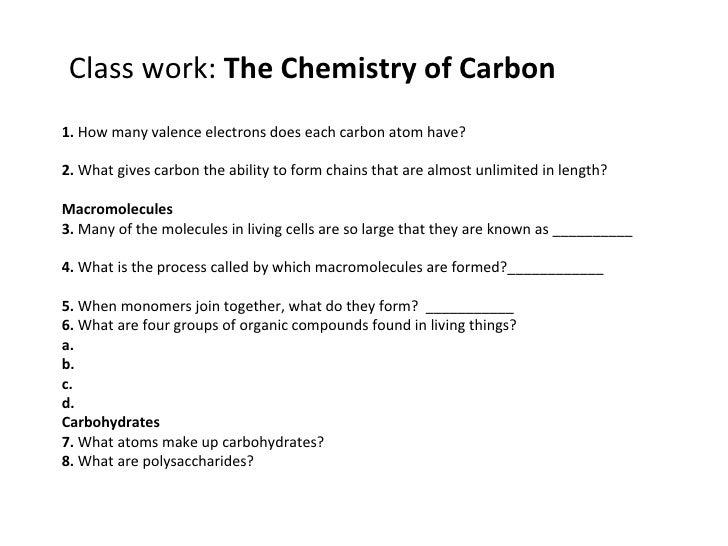 Biology carbon compounds