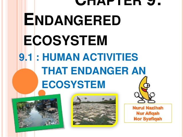 folio biologi endanger of ecosystem Spm form 4 biology - exercise human activities that endanger the ecosystem (7 questions) the greenhouse effect and thinning of the ozone layer (6 questions.