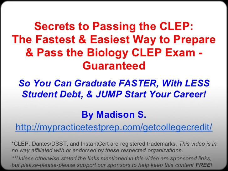 CLEP Biology Practice Test (updated 2019) - Mometrix