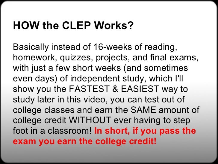 Clep Exams - Free CLEP Study Guides at Free-Clep-Prep.com