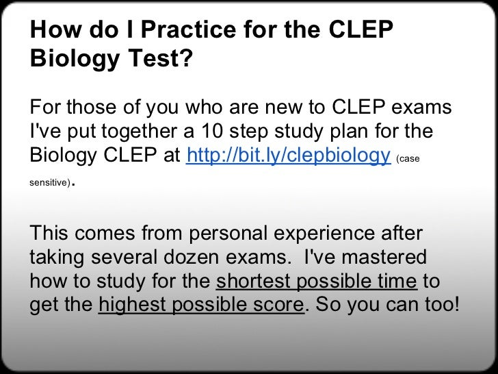 Clep online study guide free