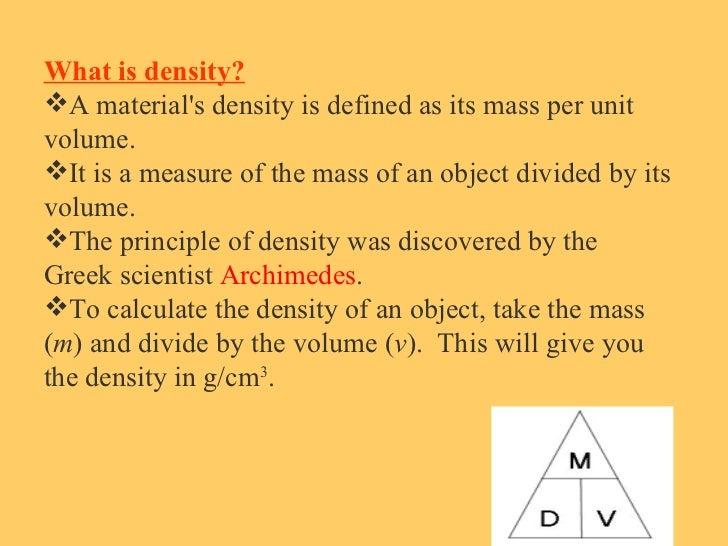 Density Definition Www Pixshark Com Images Galleries
