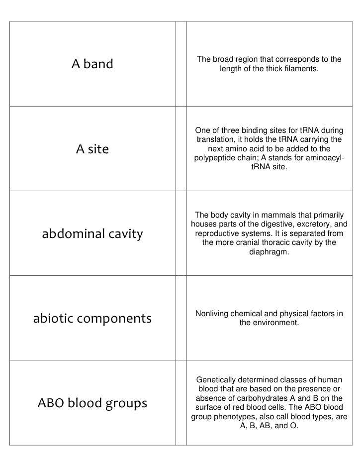 photograph regarding Amino Acid Flashcards Printable named Biology Flash Playing cards Component I