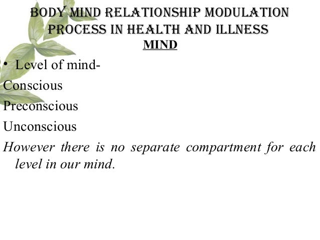 body mind relationship modulation process in health and illness