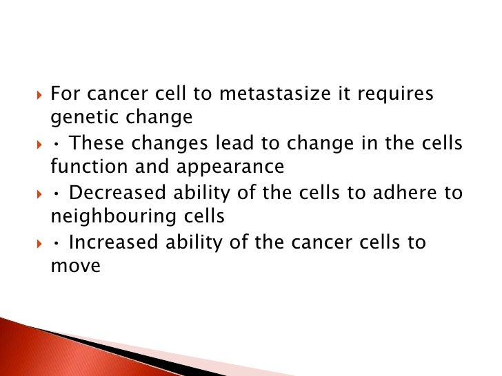 Biology Of Cancer - Effects Of Cancer On The Patient - Year 1