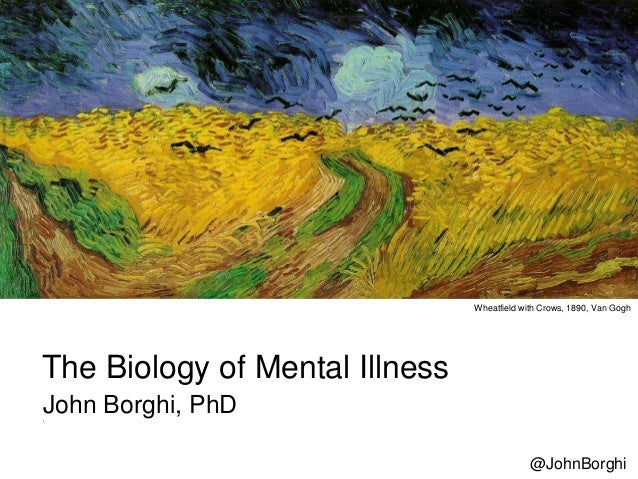 The Biology of Mental Illness John Borghi, PhD Wheatfield with Crows, 1890, Van Gogh @JohnBorghi