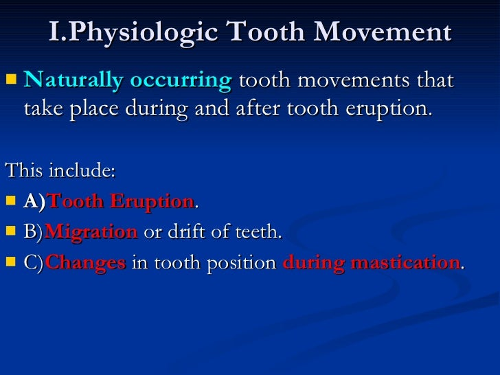 Biology Of Tooth Movement