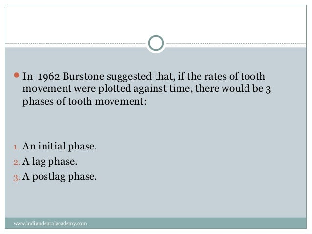 orthodontic tooth movement ideal rate and force There are 3 phases of tooth movement: 1) initial phase 2) lag phase 3) post lag phase please subscribe for more updates orthodontics videos 1  ideal orthodontic force - duration: 16:35.