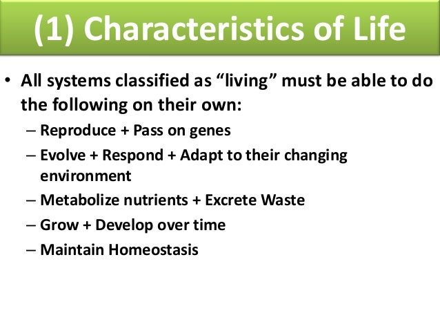 Biology: Unit 1 Biochemistry--Characteristics of Life and Biomolecule…