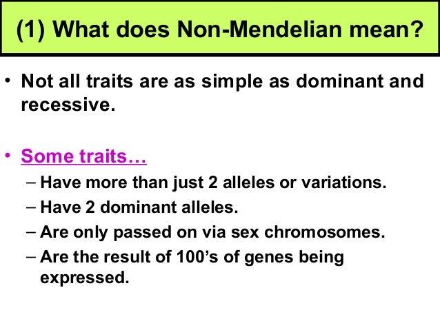 Biology unit 5 genetics non mendelian genetics notes