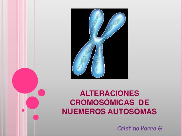 ALTERACIONES CROMOSÓMICAS DENUEMEROS AUTOSOMAS          Cristina Parra G