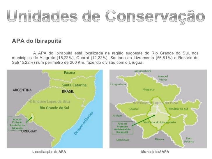 <ul><li>APA do Ibirapuitã </li></ul><ul><li>A APA do Ibirapuitã está localizada na região sudoeste do Rio Grande do Sul, n...