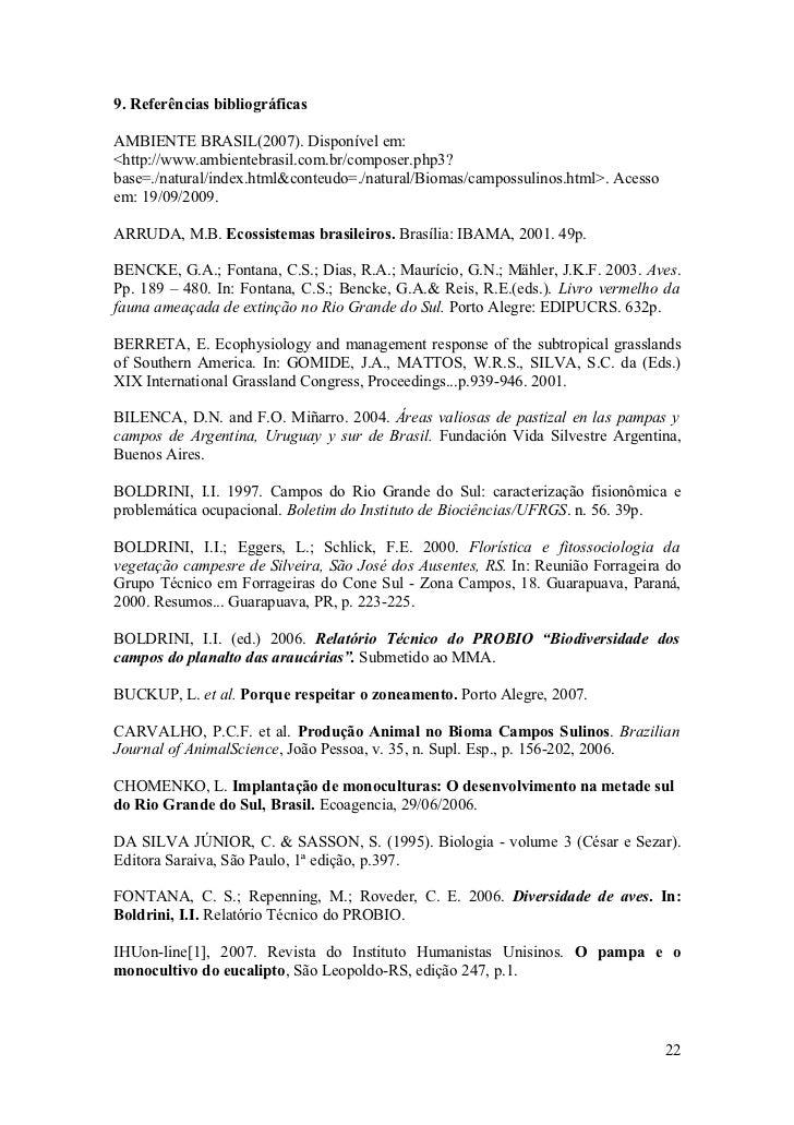 9. Referências bibliográficas  AMBIENTE BRASIL(2007). Disponível em: <http://www.ambientebrasil.com.br/composer.php3? base...