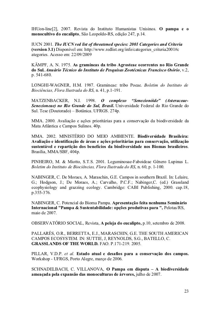 IHUon-line[2], 2007. Revista do Instituto Humanistas Unisinos. O pampa e o monocultivo do eucalipto, São Leopoldo-RS, ediç...