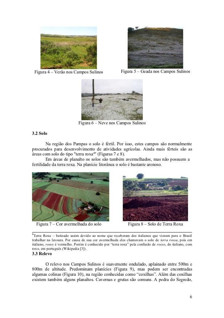 Figura 4 – Verão nos Campos Sulinos                  Figura 5 – Geada nos Campos Sulinos                                  ...