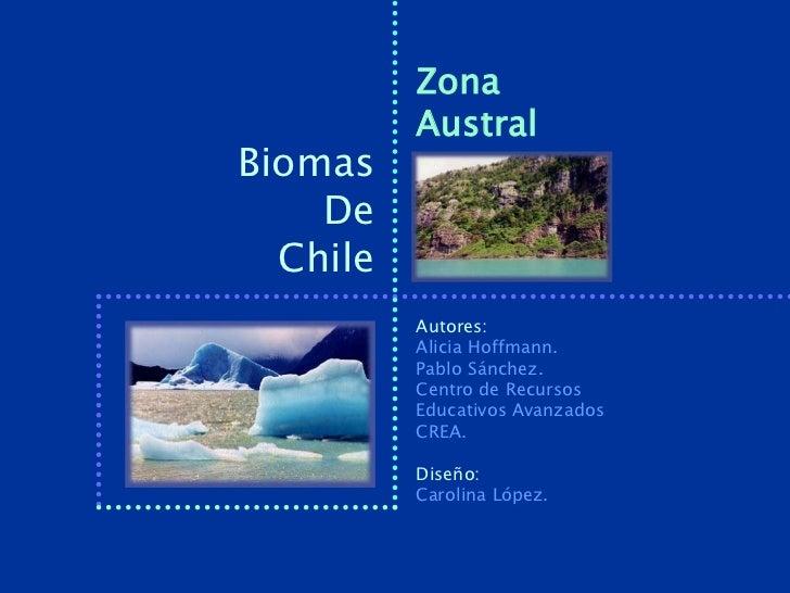 Zona          AustralBiomas    De  Chile          Autores:          Alicia Hoffmann.          Pablo Sánchez.          Cent...