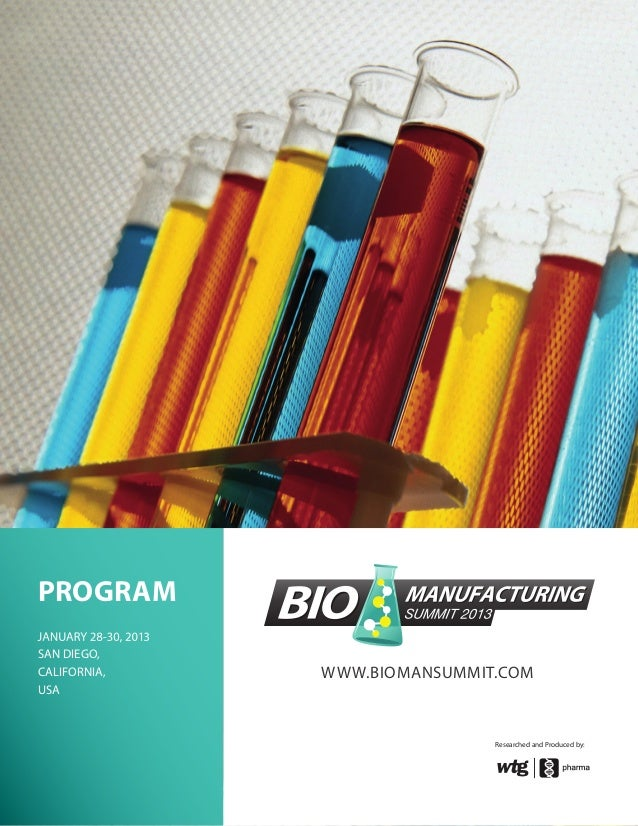 WWW.BIOMANSUMMIT.COMPROGRAMSAN DIEGO,CALIFORNIA,USAResearched and Produced by: